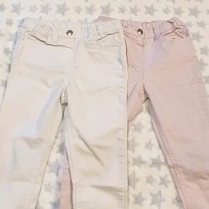 * Size 5 jeans x2 white and pink